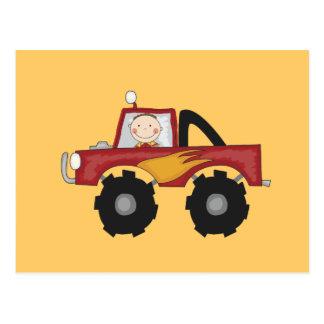 Carte Postale T-shirts et cadeaux rouges de camion de monstre