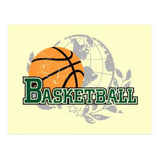 Carte Postale T-shirts et cadeaux verts de basket-ball