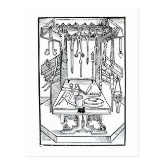 Carte Postale Table d'opération et instruments chirurgicaux, du