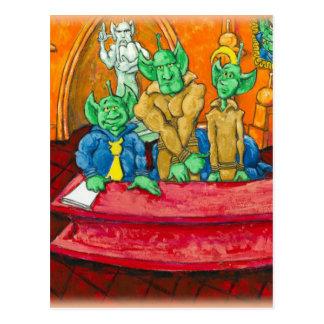 Carte Postale Tableau martien de la défense