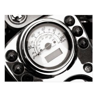 Carte Postale Tachymètre de moto