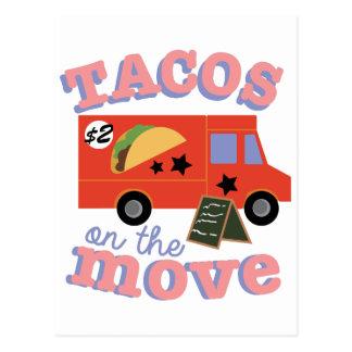 Carte Postale Tacos sur le mouvement