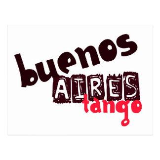Carte Postale Tango de Buenos Aires