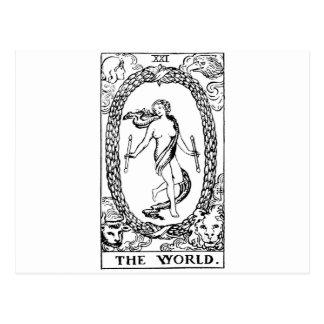 Carte Postale Tarot 'le worl'd