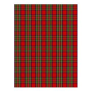 Carte Postale Tartan de Stewart de clan