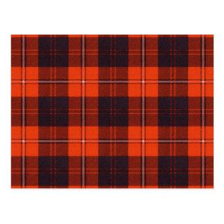 Carte Postale Tartan d'écossais de Cunningham