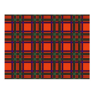 Carte Postale Tartan d'écossais de Machintosh