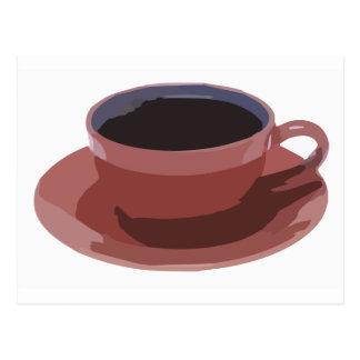 Carte Postale Tasse de café mauve
