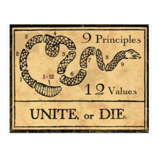 Carte Postale tasse de pères fondateurs