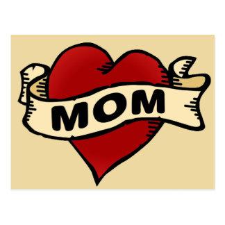 Carte Postale Tatouage de coeur de maman