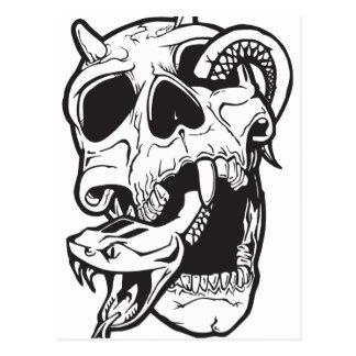 Carte Postale Tatouage de crâne