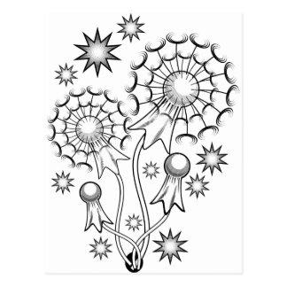 Carte Postale Tatouage de fleur