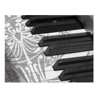 Carte Postale Tatouage de piano