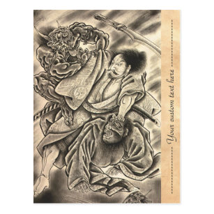 Cartes Postales Tatouage Samourais Originales Zazzle Be