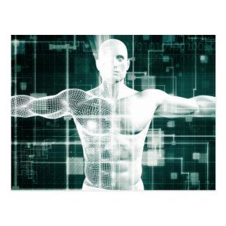Carte Postale Technologie de soins de santé et balayage médical