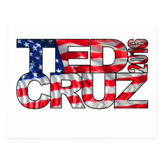 Carte Postale Ted Cruz 2016 (drapeau)