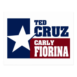 Carte Postale Ted Cruz et Carly Fiorina 2016