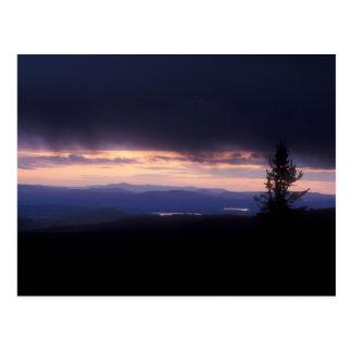 Carte Postale Tempête Berkshires de soirée de Greylock de bâti