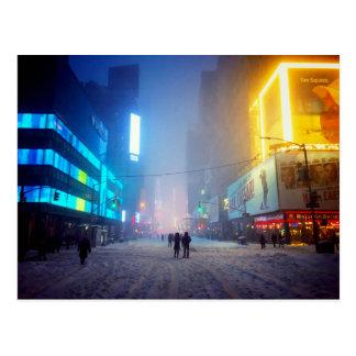 Carte Postale Tempête de neige dans le Times Square
