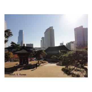 Carte Postale Temple bouddhiste à Séoul, Corée du Sud