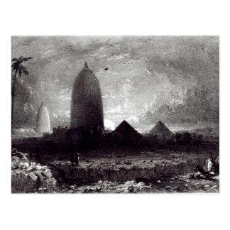 Carte Postale Temple de Jagannath, gravé par A. Picken, 1837