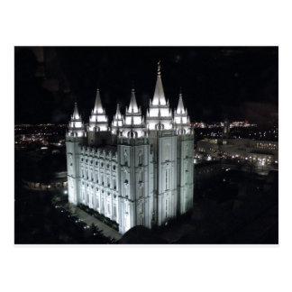 Carte Postale Temple de Salt Lake City la nuit