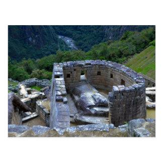 Carte Postale Temple du Sun, Machu Picchu, Pérou