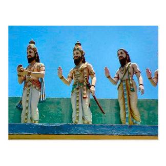 Carte Postale Temple hindou, défendant le temple