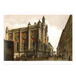 Carte Postale Temple juif dans la ville Leopold par le vonAlt de