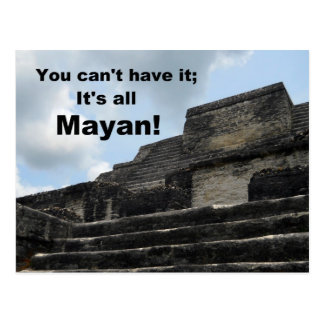 Carte Postale Temple maya d'un dieu soleil ; Belize
