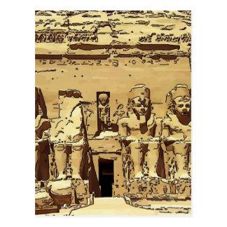 Carte Postale Temples d'Abu Simbel d'Egyptien