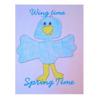 Carte Postale Temps d'aile, printemps !