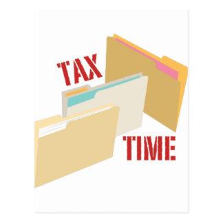 Carte Postale Temps d'impôts