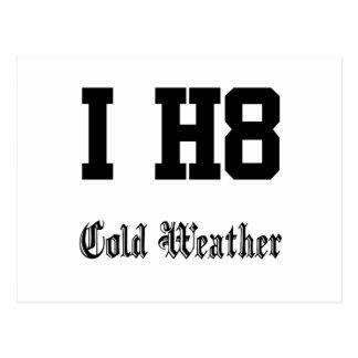 Carte Postale temps froid