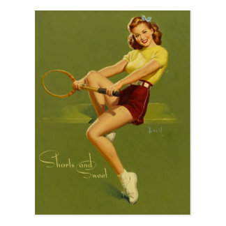 Carte Postale Tennis PinUp Girl