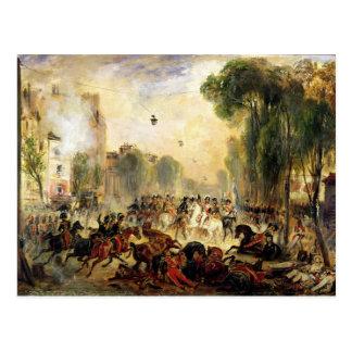 Carte Postale Tentative d'assassinat sur le Roi Louis-Philippe