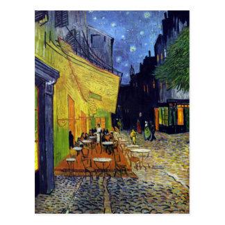 Carte Postale Terrasse de café la nuit par Vincent van Gogh 1888