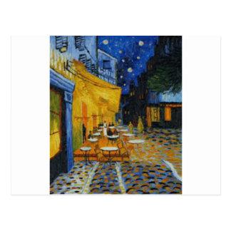 Carte Postale Terrasse de Café le nuit de Vincent Van Gogh