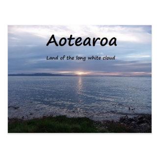 Carte Postale Terre d'Aotearoa du long nuage blanc