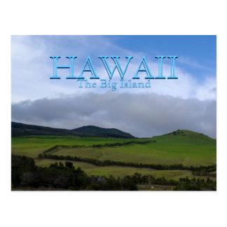Carte Postale Terres cultivables vertes de montagne d'Hawaï