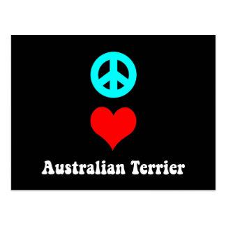 Carte Postale terrier australien d'amour de paix