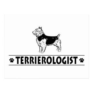 Carte Postale Terrier australien humoristique