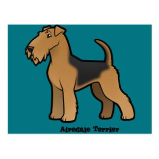 Carte Postale terrier d'airedale