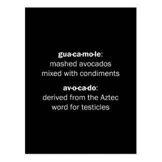 Carte Postale Testicules de guacamole