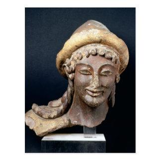Carte Postale Tête de Hermes portant des pilos