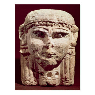 Carte Postale Tête de la déesse Ishtar, d'Amman, la Jordanie