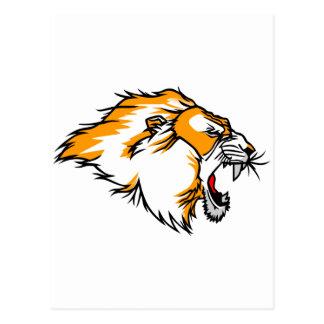 Carte Postale Tête de lion