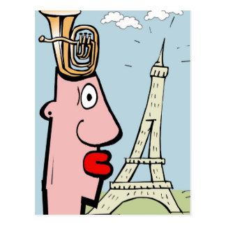 Carte Postale Tête de tuba à Paris