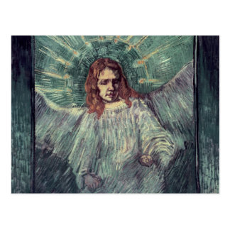 Carte Postale Tête d'un ange, après Rembrandt, 1889