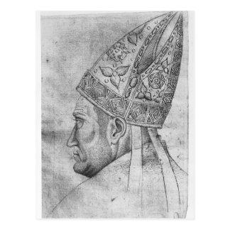 Carte Postale Tête d'un évêque, le de l'album de Vallardi